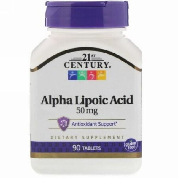 21st Century, アルファリポ酸、50mg、90錠