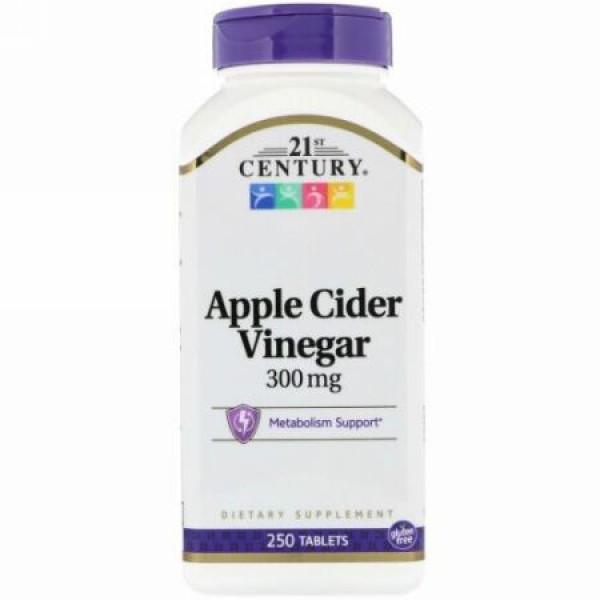 21st Century, のヘルスケア, リンゴ酢, 300 mg, 250錠