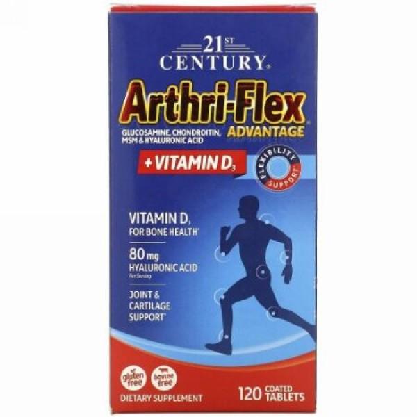 21st Century, アースリフレックス アドバンテージ(Arthri-Flex Advantage), プラス ビタミンD3, 120錠(コーティング錠剤)