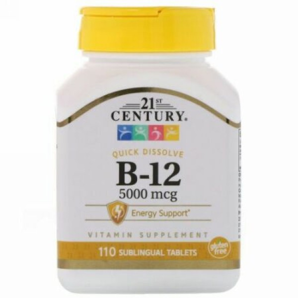 21st Century, B-12、5000 mcg、110舌下錠 (Discontinued Item)