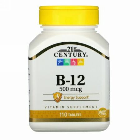 21st Century, B-12、500 mcg、110錠