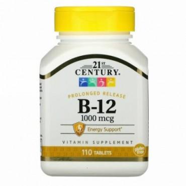 21st Century, B-12、1000mcg、110錠