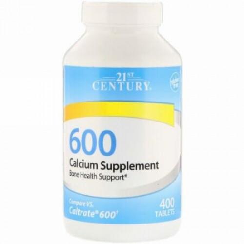 21st Century, カルシウムサプリ600、400錠