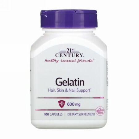 21st Century, Gelatin、600 mg、100粒