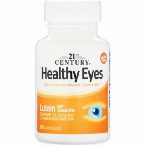 21st Century, 健康な眼, ルテイン&ゼアキサンチン, 60カプセル