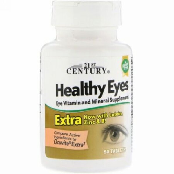 21st Century, 健康な眼 エクストラ(Healthy Eyes Extra), 50錠 (Discontinued Item)