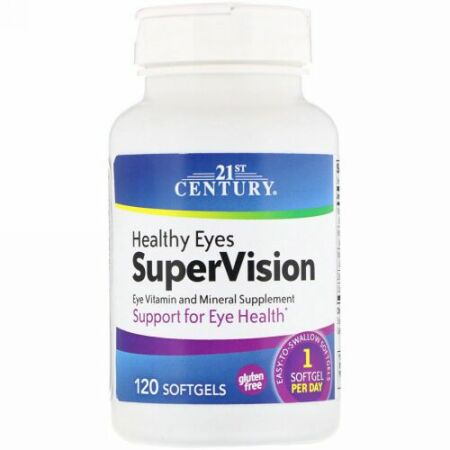 21st Century, 健康な眼 スーパービジョン(Healthy Eyes SuperVision), 120ソフトゼリー (Discontinued Item)