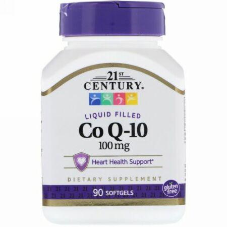 21st Century, Liquid Filled CoQ-10, 100 mg, 90 Softgels