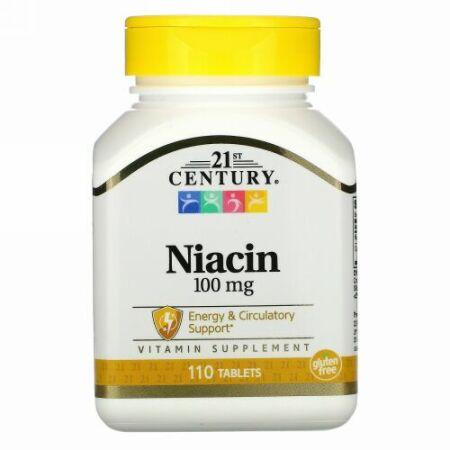 21st Century, ナイアシン、100mg、110錠