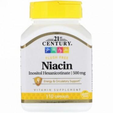 21st Century, ナイアシン・イノシトール・ヘキサニコチネート、500 mg、110カプセル (Discontinued Item)
