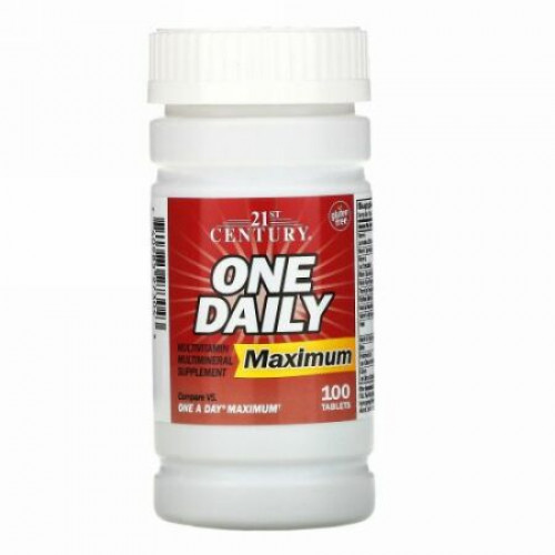 21st Century, 1日1回, マキシマム, マルチビタミン マルチミネラル, 100 錠