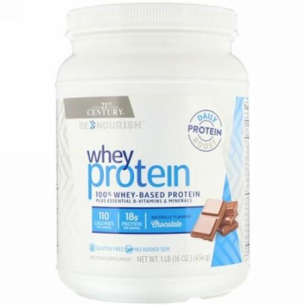 21st Century, リナーリッシュ, ホエイタンパク質, チョコレート味, 16オンス (454 g) (Discontinued Item)