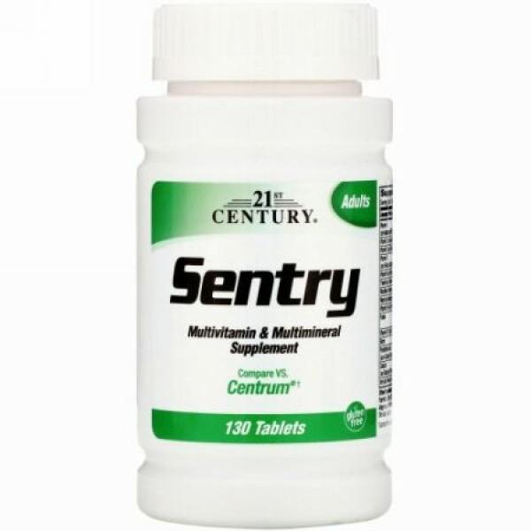 21st Century, セントリ―(Sentry), マルチビタミン&マルチミネラルサプリメント, 130錠