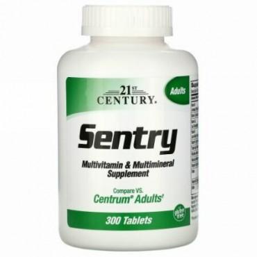 21st Century, セントリ―(Sentry), マルチビタミン&マルチミネラルサプリメント, 成人に, 300錠