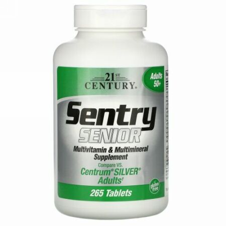 21st Century, Sentry, Multivitamin & Multimineral Supplement, Adults, 300 Tablets