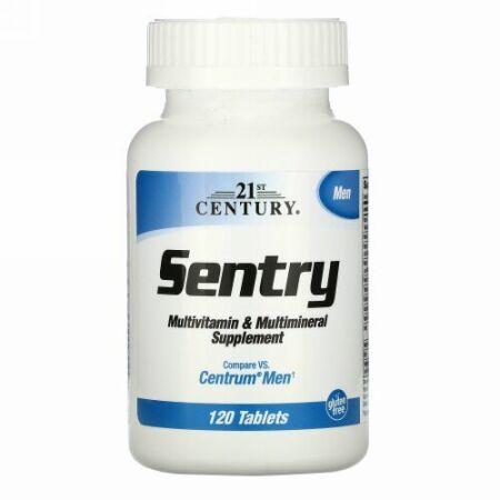 21st Century, セントリーメン、マルチビタミン&マルチミネラルサプリメント、120錠