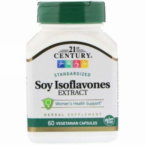 21st Century, Soy Isoflavones Extract, Standardized, 60 Vegetarian Capsules