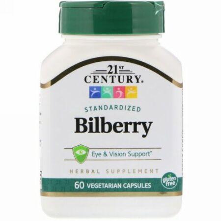 21st Century, ビルベリーエキス, 60 ベジタブルカプセル (Discontinued Item)