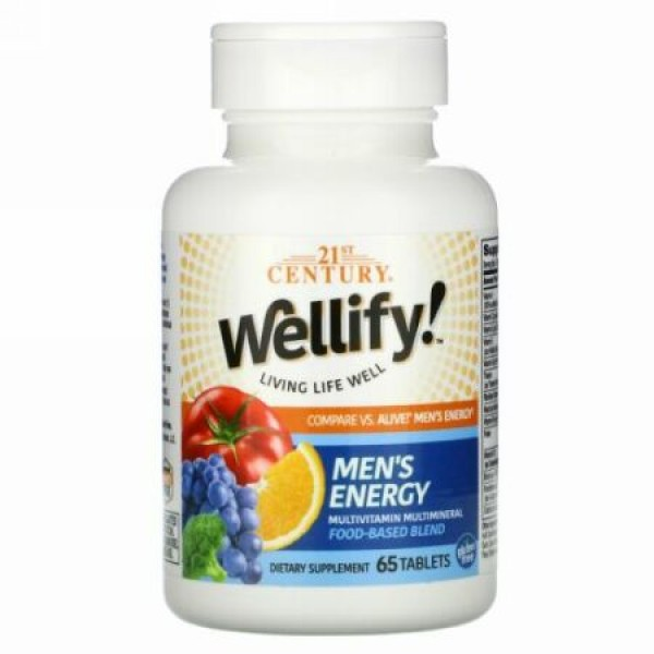 21st Century, Wellify! Men's Energy, 65 Tablets