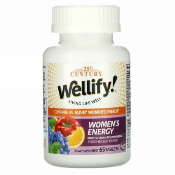21st Century, Wellify! Women's Energy, 65 Tablets