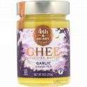 4th & Heart, Ghee Butter, Grass-Fed, Garlic, 9 oz (255 g)