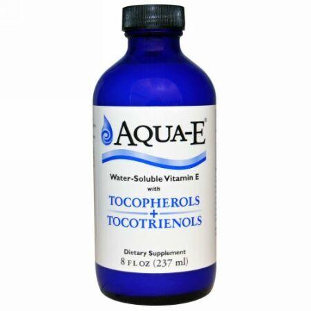 A.C. Grace Company, アクア-E、 水溶性 ビタミンE、トコフェロール + トコトリエノール、 8 fl oz (237 ml) (Discontinued Item)