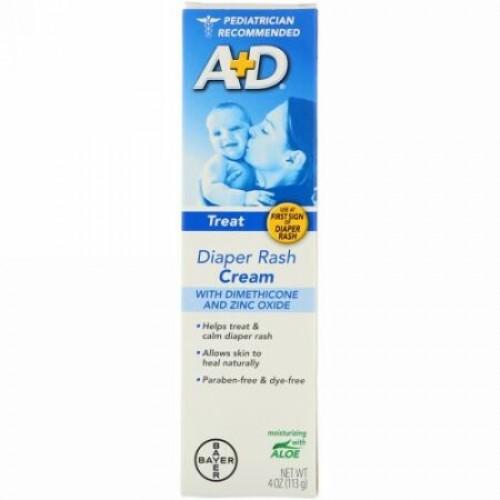 A+D, ジメチコンと酸化亜鉛入りオムツかぶれクリーム、4 oz (113 g)