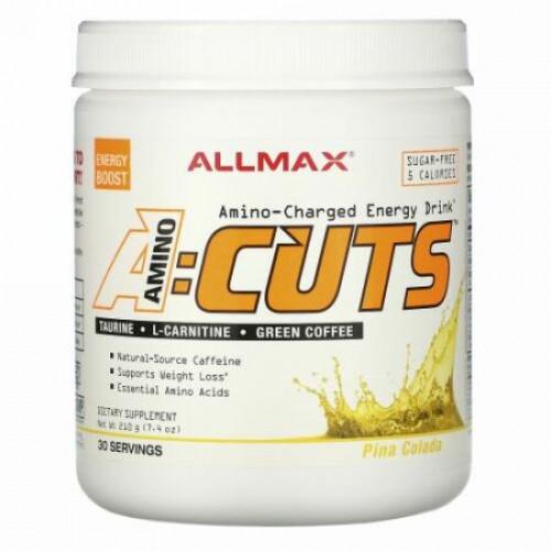 ALLMAX Nutrition, ACUTS(エイカッツ)、アミノチャージEnergy Drink(エネルギードリンク)、ピニャ・コラーダ、210g(7.4オンス)