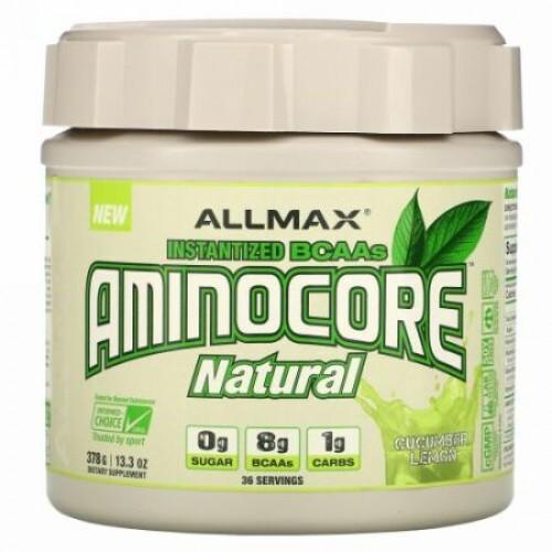 ALLMAX Nutrition, AMINOCORE Natural, Instantized BCAAs, Cucumber Melon, 13.3 oz (378 g)