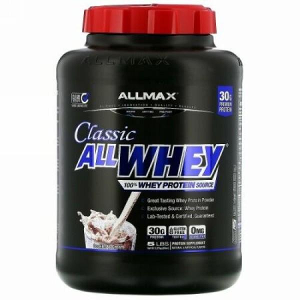 ALLMAX Nutrition, AllWhey(オールホエイ)クラシック、100%ホエイタンパク質、クッキー&クリーム、2.27kg(5ポンド)