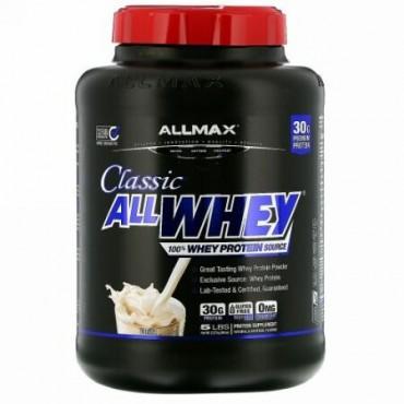 ALLMAX Nutrition, AllWhey(オールホエイ)クラシック、100%ホエイタンパク質、フレンチバニラ、2.27kg(5ポンド)