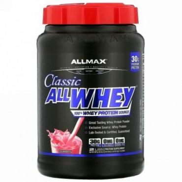 ALLMAX Nutrition, オールホエイクラシック、100%ホエイタンパク質、ストロベリー、2ポンド (907 g)