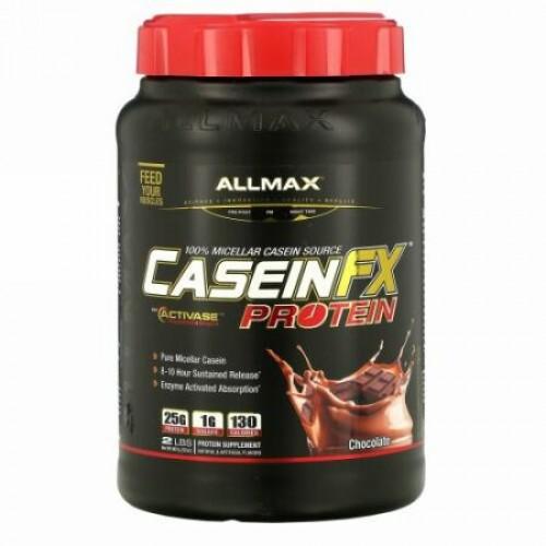 ALLMAX Nutrition, カゼインFX、100%カゼインミセルタンパク質、チョコレート、2ポンド (907g)
