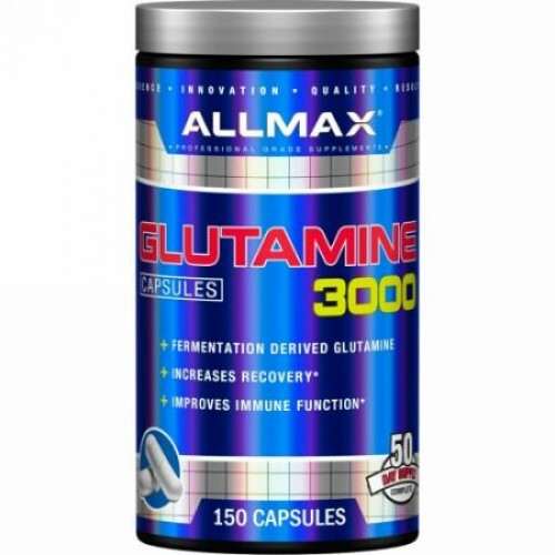 ALLMAX Nutrition, Glutamine 3000, 3,000 mg, 150 Capsules (Discontinued Item)