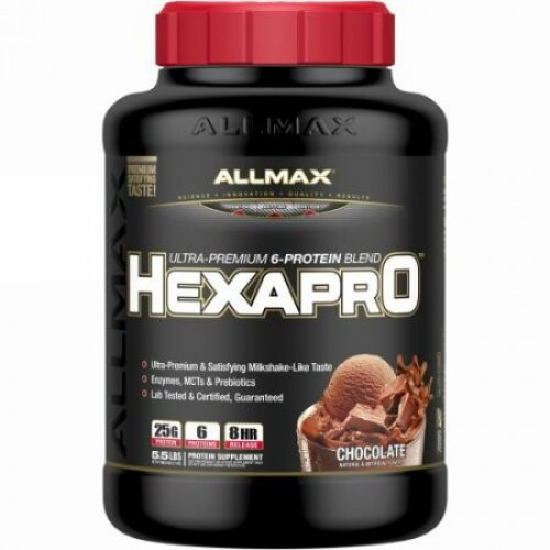 ALLMAX Nutrition, ヘクサアプロ、ウルトラプレミアムプロテイン、MCT・ココナッツオイル、チョコレート、5.5 lbs (2.5 kg) (Discontinued Item)