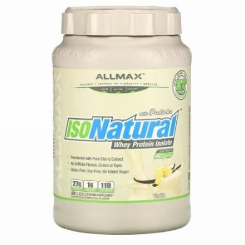 ALLMAX Nutrition, IsoNatura、100%ウルトラピュアナチュラルホエイタンパク質アイソレート、バニラ、2ポンド (907 g)