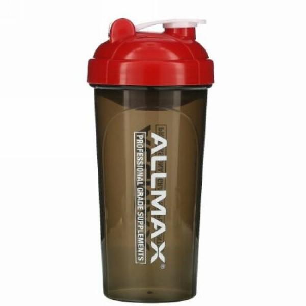 ALLMAX Nutrition, リークプルーフ(漏れ防止)シェイカー、渦巻き状ミキサー付きBPA不使用ボトル、700ml(25オンス)