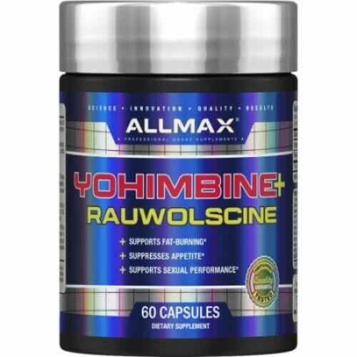 ALLMAX Nutrition, ヨヒンビンHCI+ラウオルシン、3.0mg、60粒