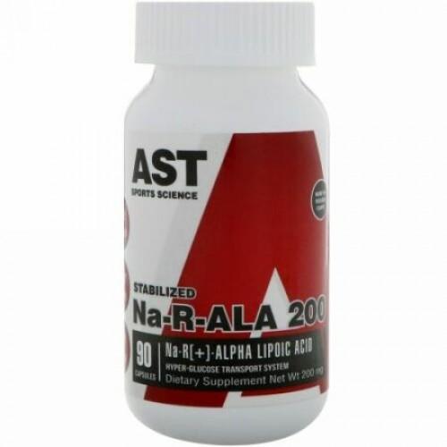 AST Sports Science, Na-R-ALA 200, 200 mg、カプセル90粒 (Discontinued Item)