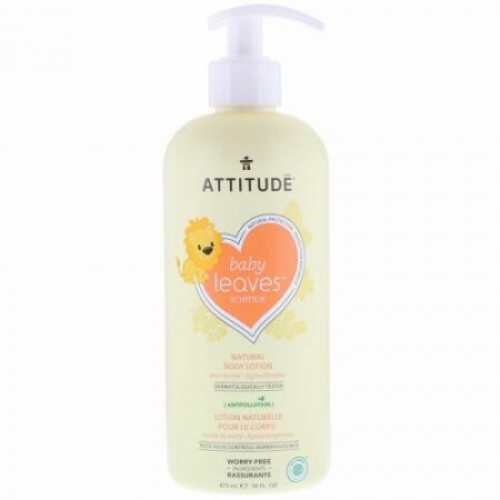ATTITUDE, Baby Leavesサイエンス、ナチュラルボディローション、ナシネクター、16液量オンス (473 ml) (Discontinued Item)