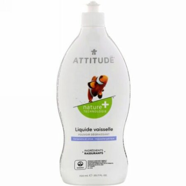 ATTITUDE, 食器洗い用液体洗剤, コリアンダー&オリーブ, 23.7液量オンス (700 ml) (Discontinued Item)