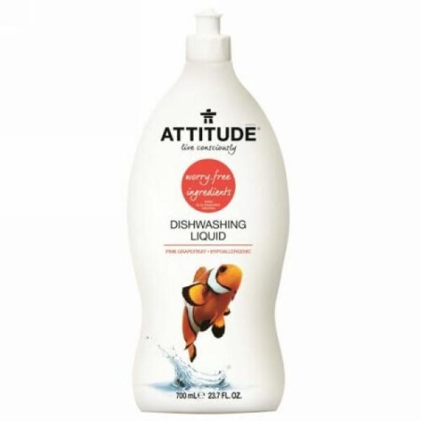 ATTITUDE, 食器用洗剤、 ピンクグレープフルーツ、 23.7 fl oz (700 ml) (Discontinued Item)