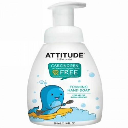 ATTITUDE, リトルワンズ、 フォーミングハンドソープ、 梨ネクター、 10液量オンス (295 ml) (Discontinued Item)