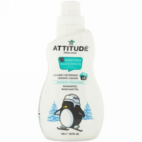 ATTITUDE, Little Ones, Laundry Detergent, Pear Nectar, 35.5 fl oz (1.05 l) (Discontinued Item)