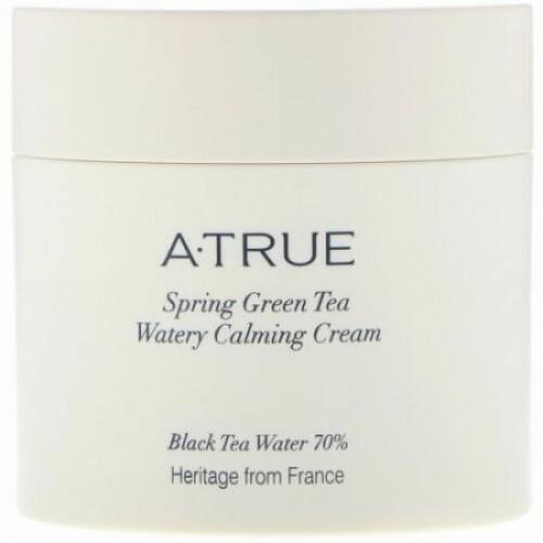 ATrue, 春の緑茶・水分豊富なカーミングクリーム、2.82 oz (80 g)