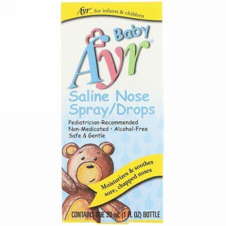 AYR, ベビー用食塩水鼻スプレー/点鼻薬、1 fl oz (30 ml) (Discontinued Item)