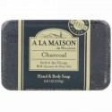 A La Maison de Provence, ハンド&ボディーバーソープ、炭、8.8 oz (250 g) (Discontinued Item)