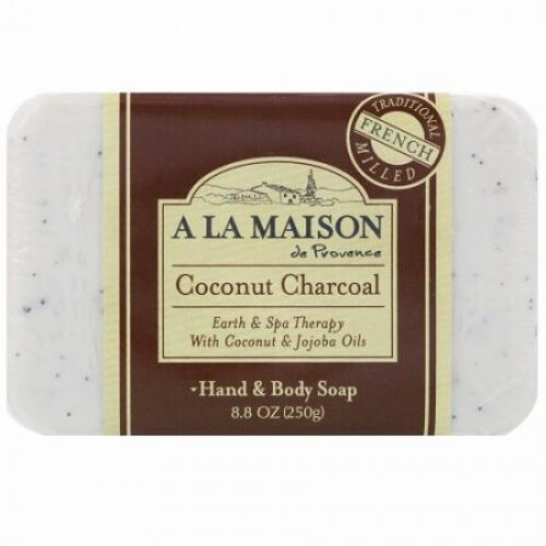 A La Maison de Provence, ハンド&ボディバーソープ、ココナッツ炭、8.8 oz (250 g) (Discontinued Item)