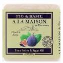 A La Maison de Provence, ハンド&ボディ・バーソープ(固形石けん)、イチジク&バジル、3.5オンス (100 g) (Discontinued Item)