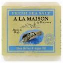 A La Maison de Provence, ハンド&ボディ・バーソープ(固形石けん)、フレッシュシーソルト、3.5オンス (100 g) (Discontinued Item)